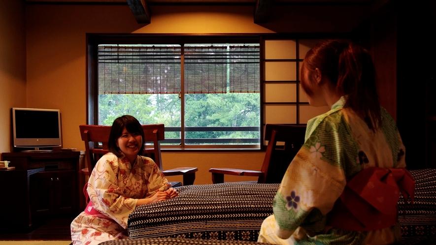 和モダンな和室で優雅に過ごす時間