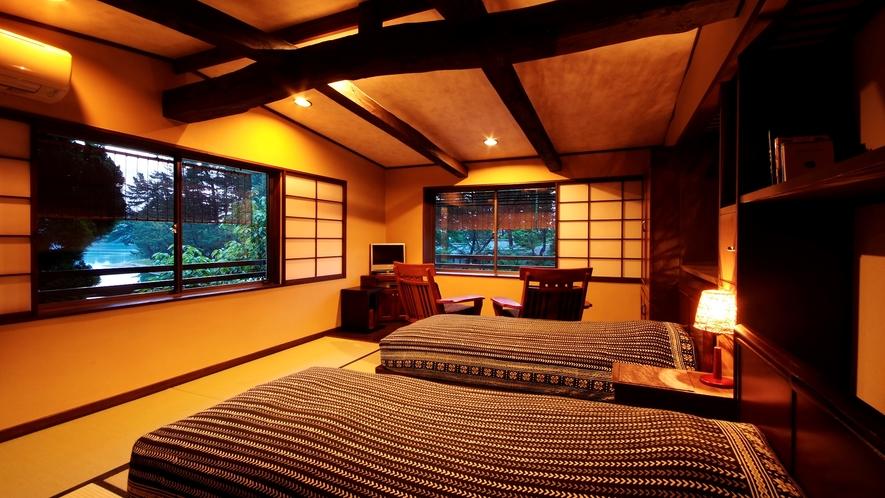 【天橋立を眺める和のベッドルーム】当館人気のお部屋は様々なタイプが3室