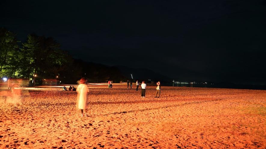 天橋立まち灯り 砂浜ライトアップ