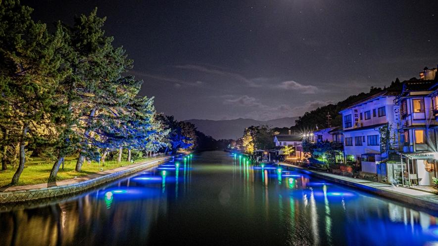 天橋立まち灯り 運河のライトアップ