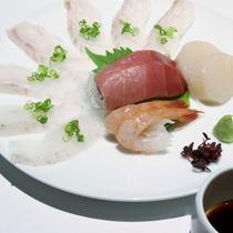 【夕食一例】妥協を許さない仕入!直接、市場から仕入れた海の幸をご提供します。