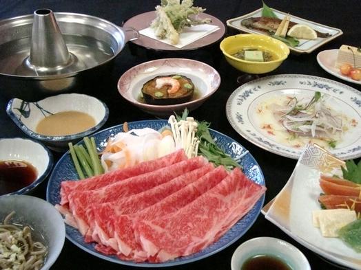 [夕朝部屋食][無料貸切露天]☆美食♪米沢牛ステーキ・すき焼き・しゃぶしゃぶ お一人様ずつ選べるP