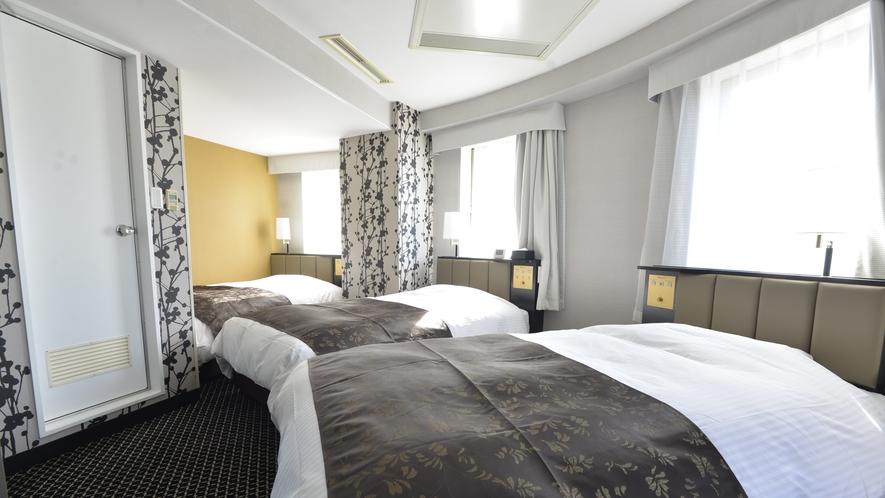 客室(トリプル)広さ27㎡/ベッド3台(110㎝幅タイプ)