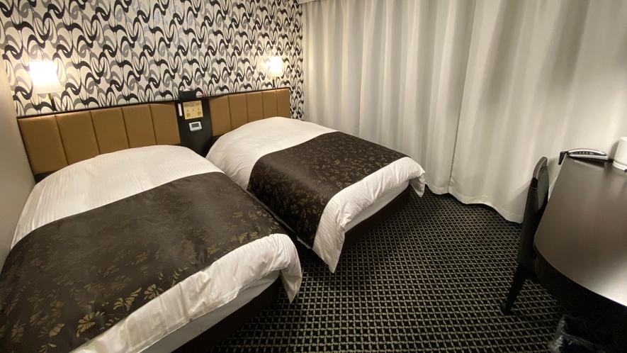 客室(ツイン)広さ16㎡/ベッド2台(110㎝幅タイプ)