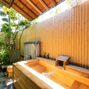 檜の露天風呂付き二間続き和室14畳