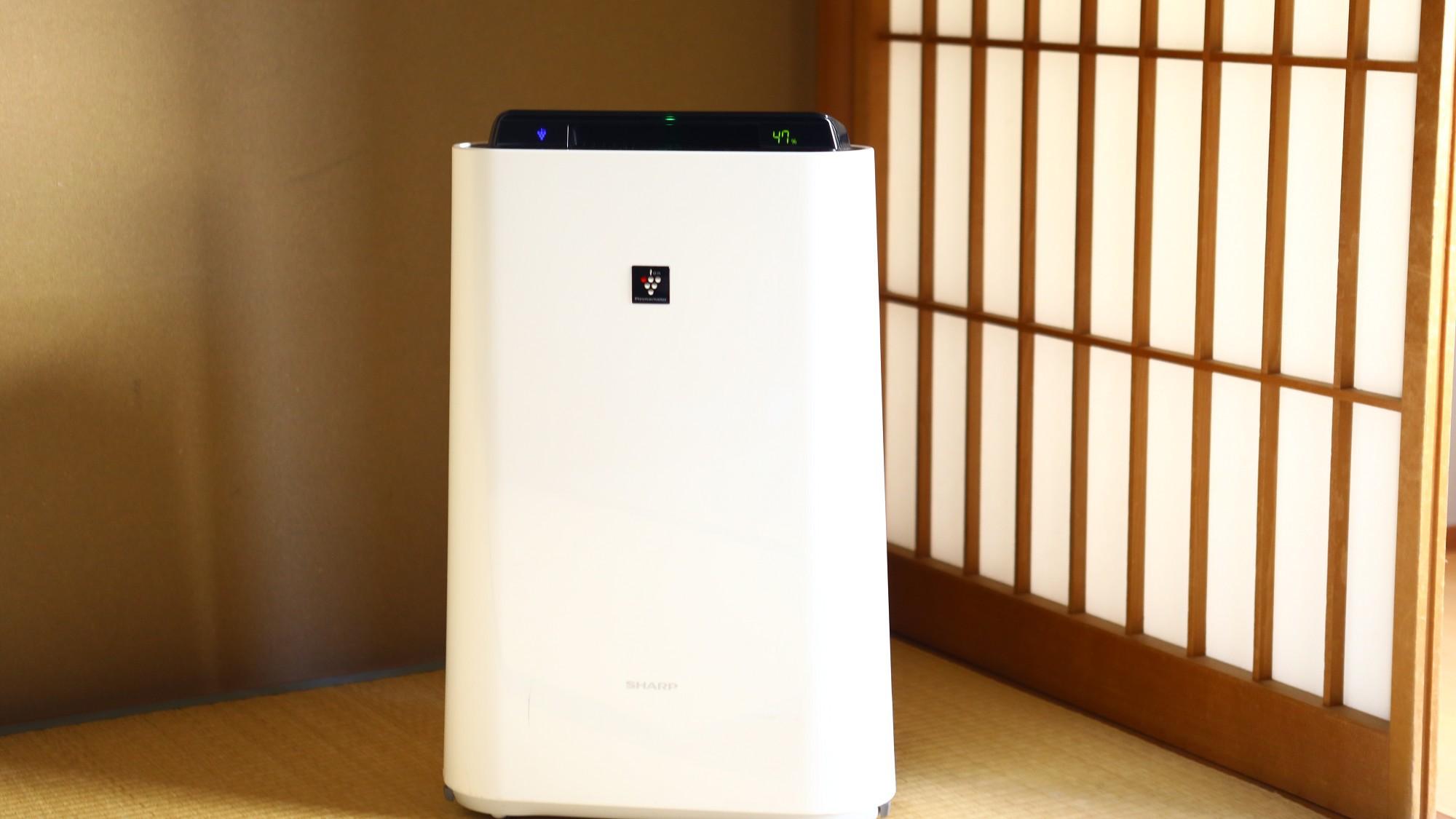 ◇加湿機能付き空気清浄機。禁煙のお部屋にご用意しております。