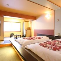 ◇【松濤閣】和風ツイン。畳敷き・ベッドタイプの、和モダンなお部屋です。