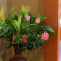 館内至る所に、生け花を飾っております。優雅な時間を演出します♪