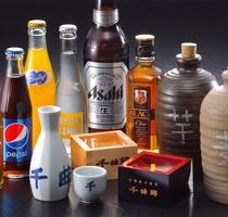利き酒セットや各種お飲み物を取り揃えております。