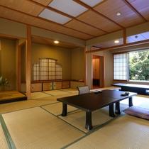 ◇【清流閣】特別室。本間に広縁を備えた、贅沢な数寄屋造りの和室。