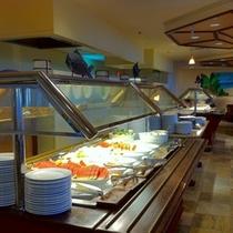 クヒオビーチグリルの朝食ビュッフェ