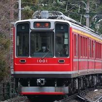 箱根湯本駅より登山鉄道に乗換て約40分。終点「強羅」まで。