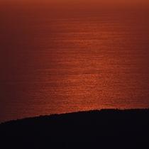 【遠く相模湾を望む日の出】