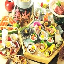 【9~11月頃】秋の会席料理(一例)