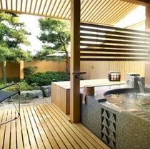 [別邸 美悠]坪庭側客室温泉露天風呂