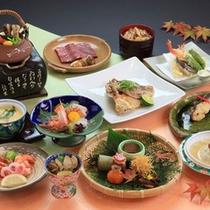*【ご夕食一例:秋会席】季節の味覚をお届けいたします