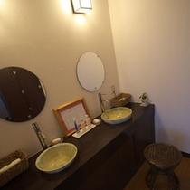 展望風呂の洗面(女性風呂)