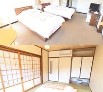 I新館3Fツインベットルーム+和室+バルコニー付(禁煙)I302and303