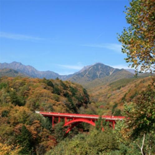 清里高原・有名な赤い橋『東沢大橋』