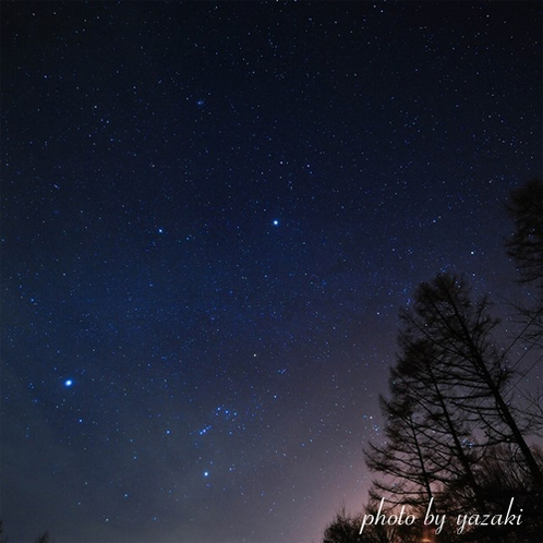 八ヶ岳高原から見る満点の星空