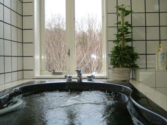 貸切ジャグジー風呂!目の前には高原の景色