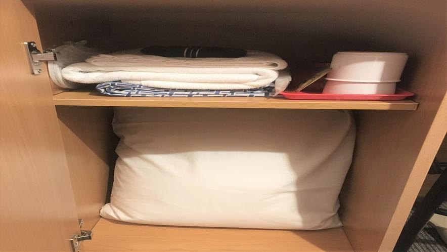 シングルルーム(セミダブルベッド)2人利用時の予備寝具
