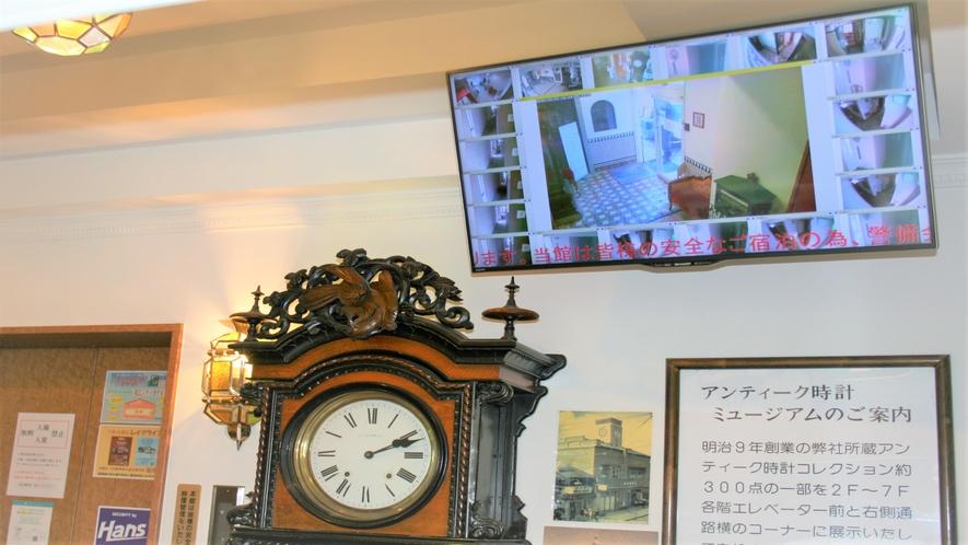 安心安全をサポート!館内のパブリックスペースには監視カメラを設置
