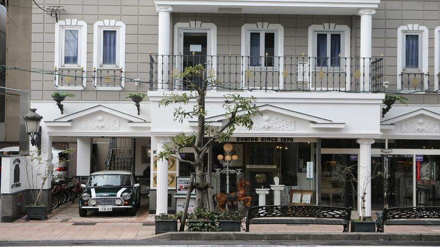 1階は松江シティホテルを経営している明治9年時計商として創業を開始しました創美堂です!
