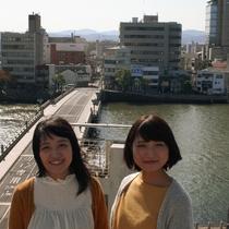 17代の銘橋松江大橋をこのアングル~撮影出来るのは当館ならでは周辺には沢山の撮影スポットがございます