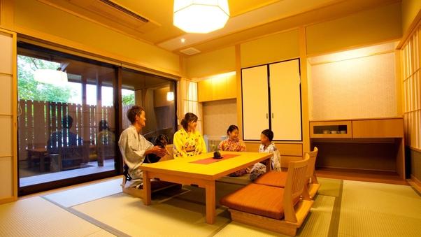 ペット・温泉半露天風呂付客室1階「ことね」(和室+ベッド)