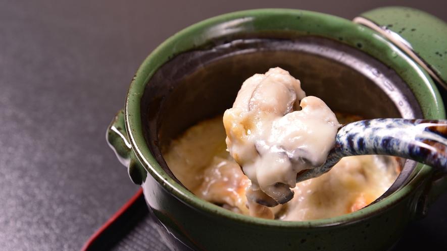 *お夕食一例(牡蠣のグラタン)