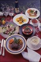 三大珍味付きフルコース料理例!