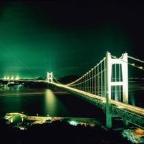 瀬戸大橋夜景