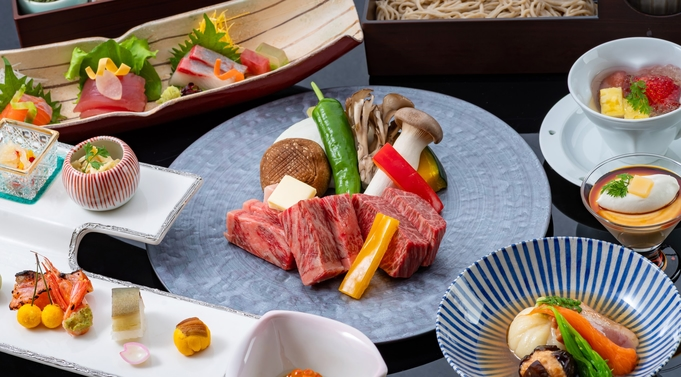 【1日1組限定/モニタープラン】ご夕食はステーキ会席