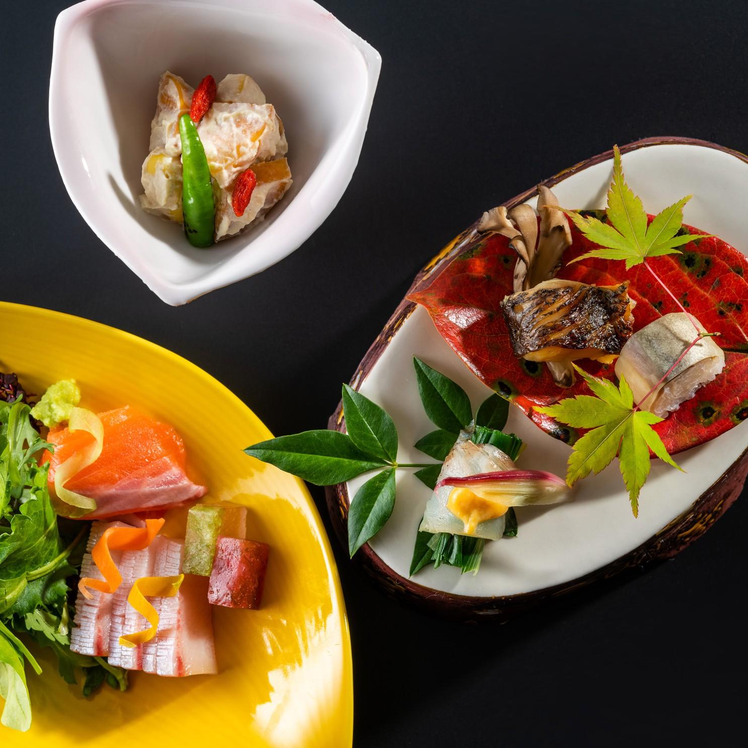 信州黄金シャモと信州ハーブ鶏の水炊き 料理一例