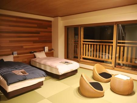 【特別室】信濃邸[雪花]温泉露天風呂付和洋室