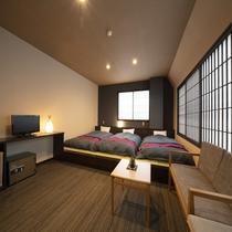 【和洋室トリプルルーム】フランスベッド社製ベッド
