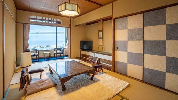 【本館和室】日本海と間人を一望 和室8.5畳・バス&トイレ付