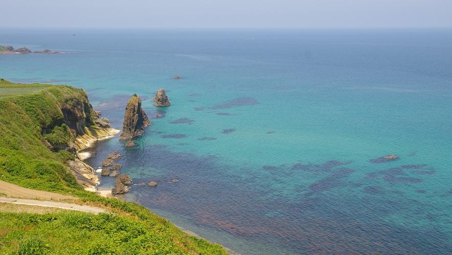 【屏風岩】世界ジオパークに認定された美しい海を是非見て下さい。屏風岩。