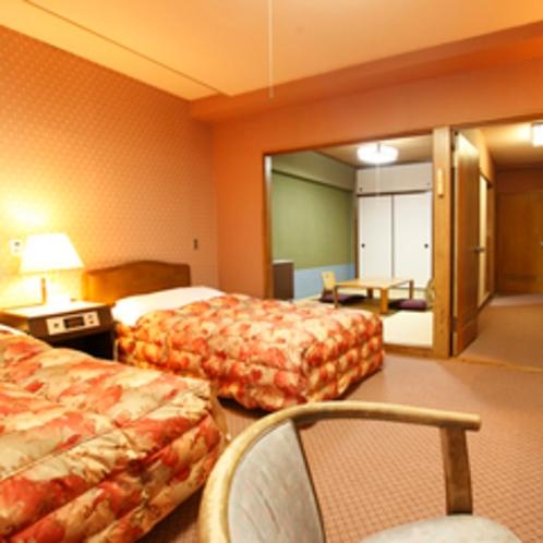 【客室】≪オーシャンフロント≫和室6畳+洋室ツイン50㎡ 2~5F