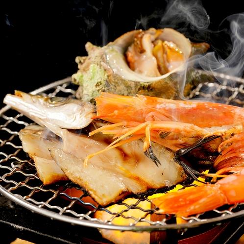【磯づくし】鮑踊り焼き×サザエ・カマスなど「海鮮あみ焼き」