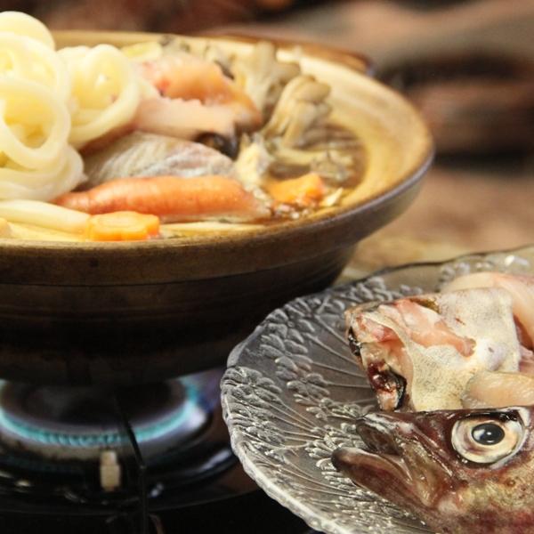 夕食の一例(冬の日替わり鍋の一例_海鮮鍋)