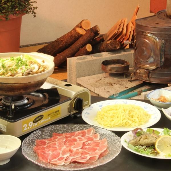 夕食の一例(冬の日替わり鍋の一例_ラーメン鍋)