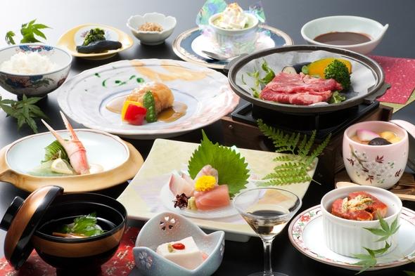 【通年/お得にレストラン食】美肌温泉と黒毛和牛をメインとした11品の季節会席
