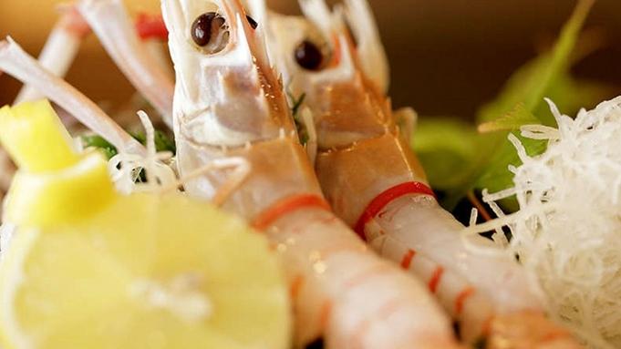 【1泊夕食】夕食に憧れの「あわびの踊り焼き」&トロっとあま〜い「手長海老」★朝食ナシの朝寝坊プラン