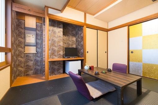 ■黒畳の和室6畳■ バス・トイレ付き(ユニットバス)