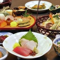 純和風の日本旅館としてのお料理の数々
