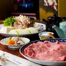 「京風すき焼きプラン」 目の前でお焼きする当館伝承の自慢の風味♪