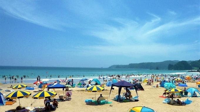 多々戸浜・夏・海水浴・ビーチは目の前徒歩1分!部屋・食事場所おまかせプラン 屋外プールもあります★