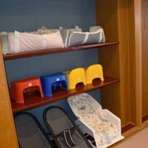 お子様用品もお部屋に準備いたします